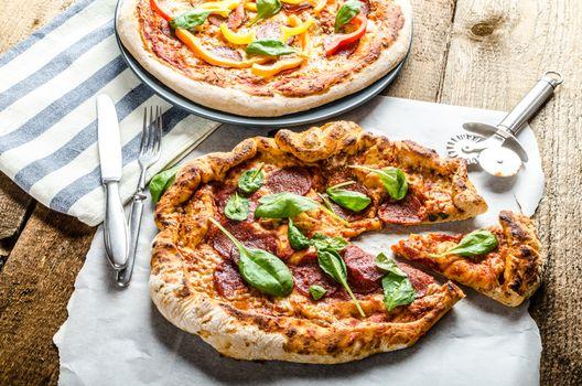 Rustic pizza