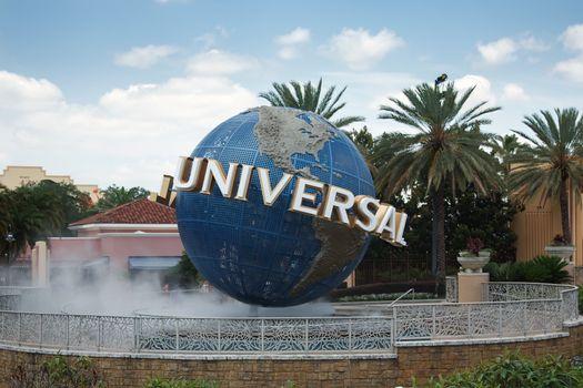 Large rotating Universal logo