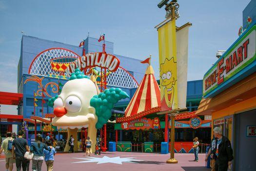 Simpsons ride at Universal Studios