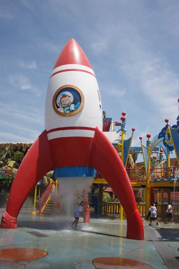 Playground for entertainment at Universal Studios