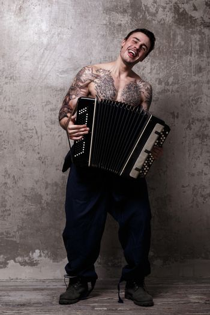 Tattooed musician