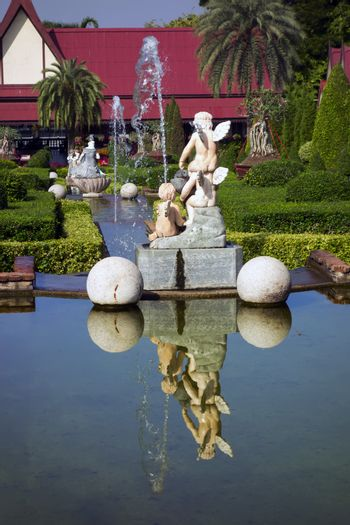 Cascade of Fountains with Sculptures.