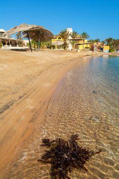 View of beach at El Gouna resort. Red Sea, Egypt