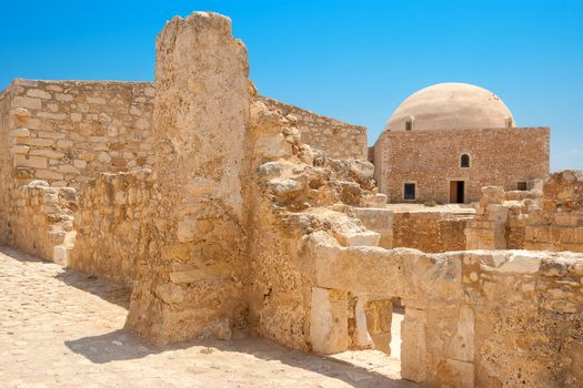 Mosque of Sultan Ibrahim Han in the 16th Century Venetian Fortezza (Fortress). Rethymno, Crete, Greece