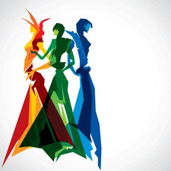 abstract fashion women