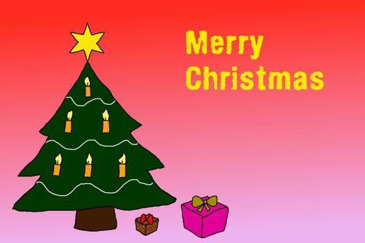 Illustration: Wishing Merry Christmas