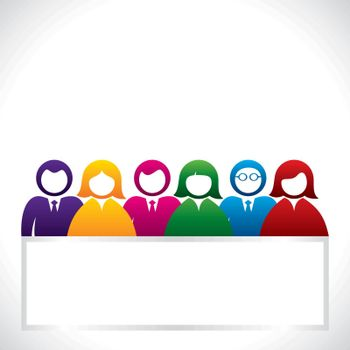 colorful group people stock vector