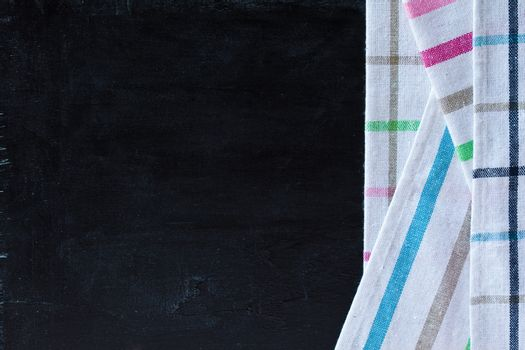 tablecloth textile on blackboard