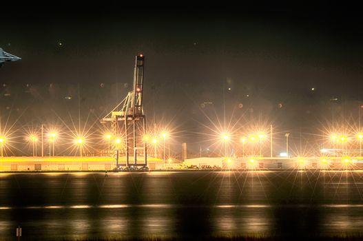 Industrial shipping port or Cargo sea port of charleston SC