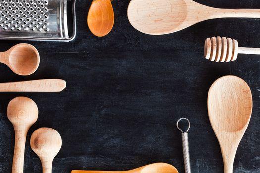 kitchen utensil frame