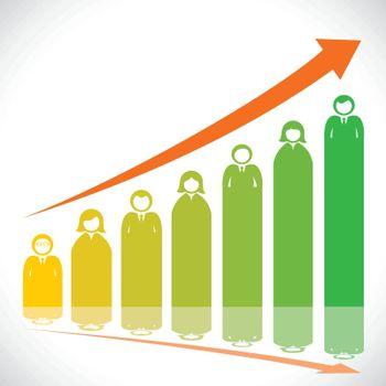 business people market graph