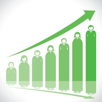 green business people stock market graph
