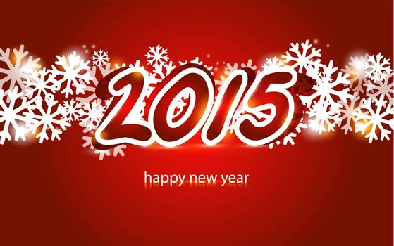 2015 Christmas and New Year lettering Greeting Card