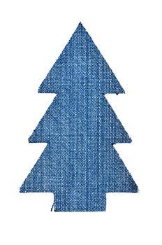 Christmas tree from denim