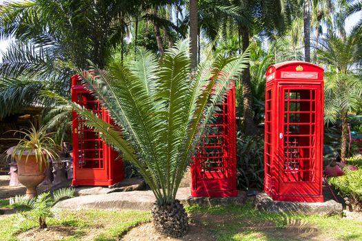 Booths in Nong Nooch Garden.