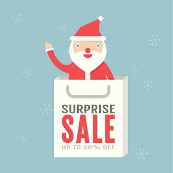 Christmas sale, vector design