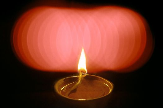 Oil Lamp in Diwali Festival, India.