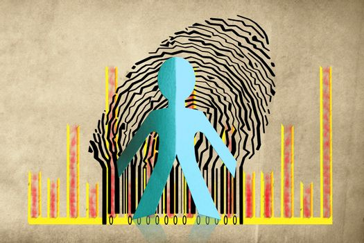 Paperman coming out of a bar code with Business Graph