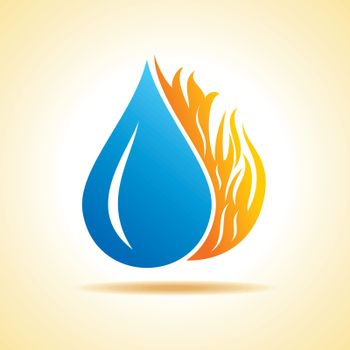 Fire and water concept stock vector