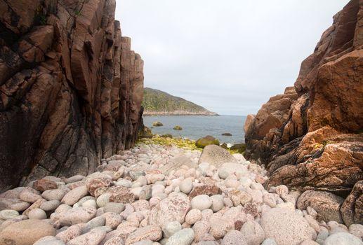 stony beach on the North Sea