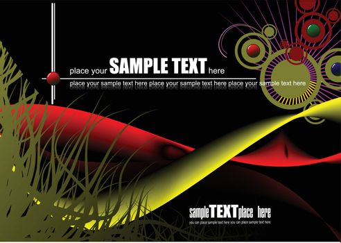 Grunge abstract wave background, vector illustration