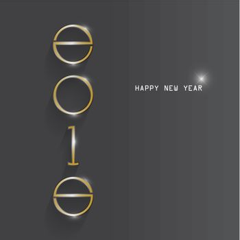 Happy new year 2015 creative greeting card