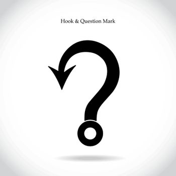 Fishing hook question mark