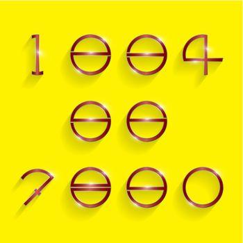 circle digit style