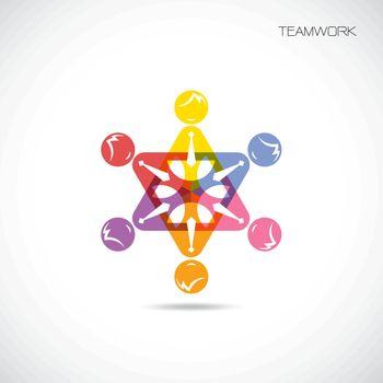 Team Partners Friends sign design vector template