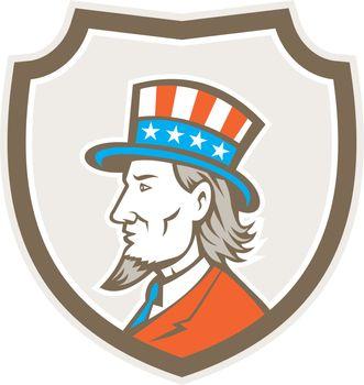 Uncle Sam American Side Shield Crest