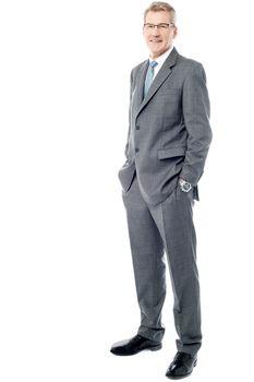 Full length of a confident businessman