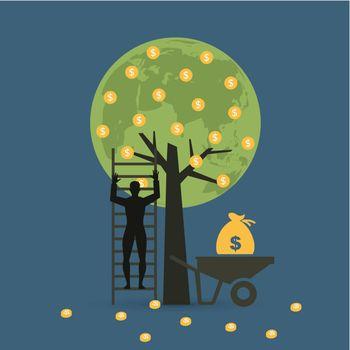 money tree cart with bag