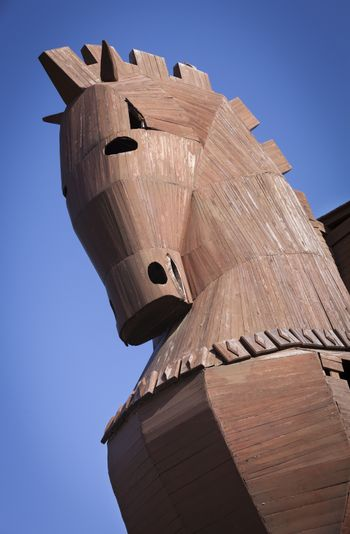 Reconstructed Trojan Horse at Troy in Turkey