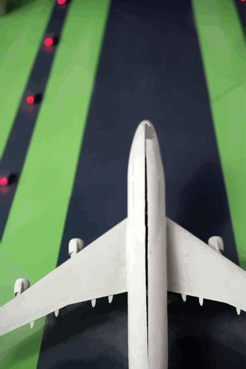 aeroplane on the airport vector realistic image