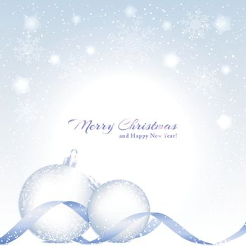 Christmas Background with Sparkling Crystal Ball