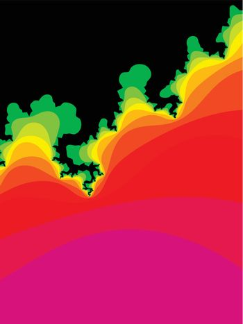 multicolor fractal vector abstract background