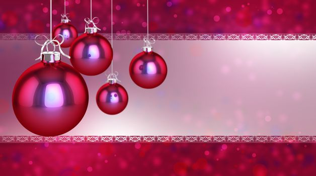 Simple, classic and modern baubles on a flickering background