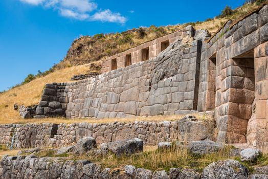 Tambomachay ruins peruvian Andes  Cuzco Peru