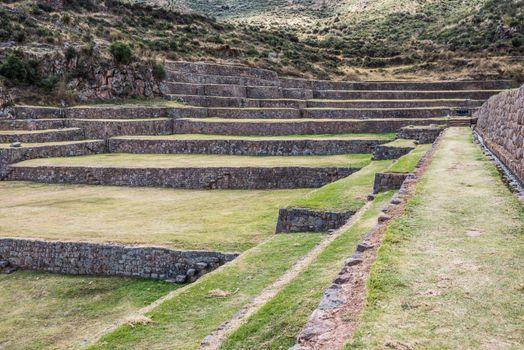 Tipon ruins peruvian Andes  Cuzco Peru