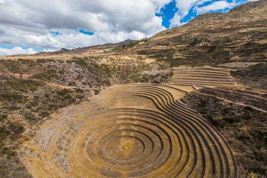 Moray ruins peruvian Andes  Cuzco Peru