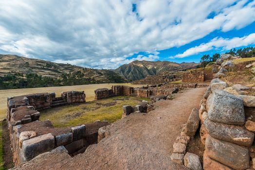Chincheros ruins peruvian Andes  Cuzco Peru