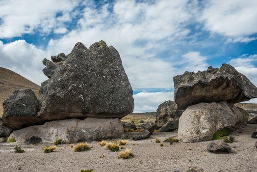 Imata Stone Forest in the peruvian Andes Arequipa Peru