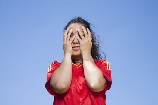 scared spanish supporter