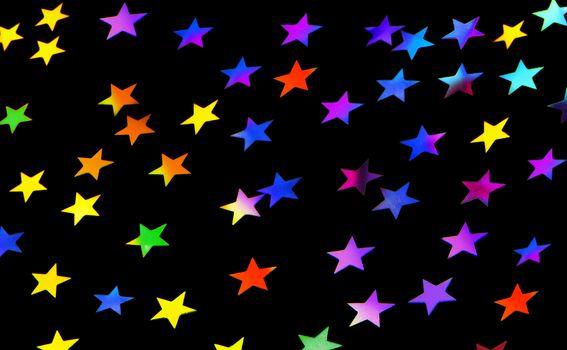 Festive stars party background