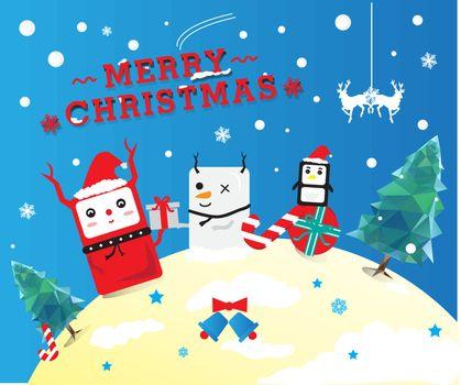 Cute Christmas cartoon