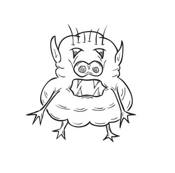 sketch of the ugly creature