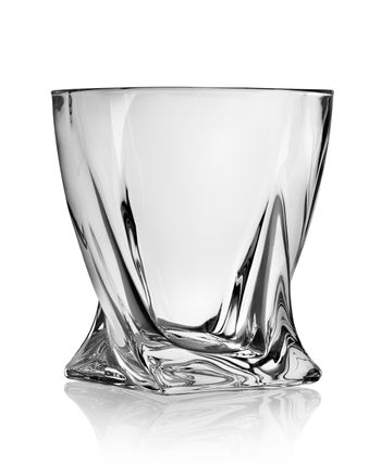 Figured glass for whiskey
