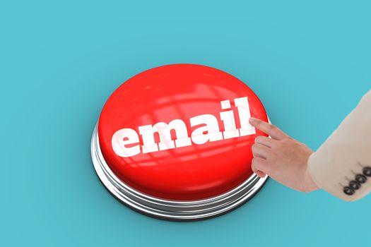 Email against blue vignette