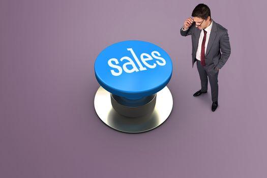Sales against grey vignette