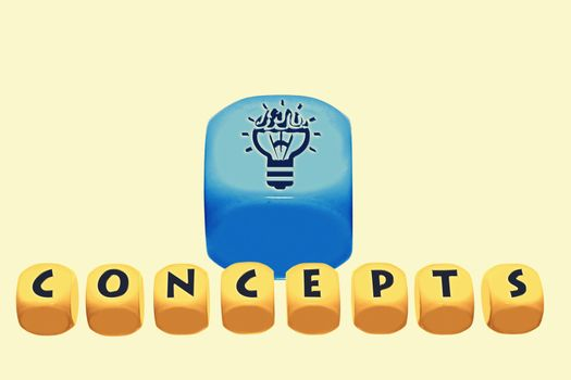 word concepts on cubes